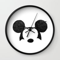mickey Wall Clocks featuring Mickey Hatching by a.k.a. Loktys