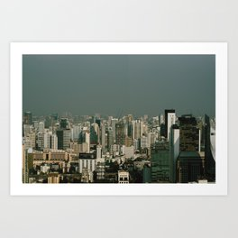 Urban landscape Art Print