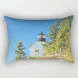 Bass Harbor Lighthouse  Mount Desert Island Maine Photograph Rectangular Pillow