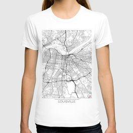 Louisville Map White T-shirt
