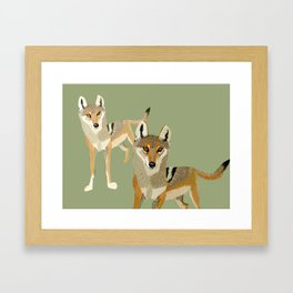 Totem Indian Wolf Framed Art Print