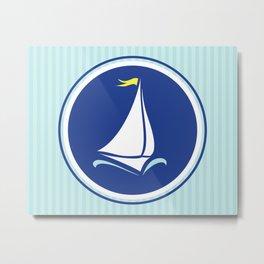 Sailboat Print  Metal Print