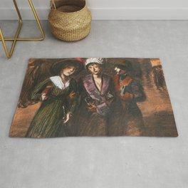 """Théophile Steinlen """"Three women"""" Rug"""