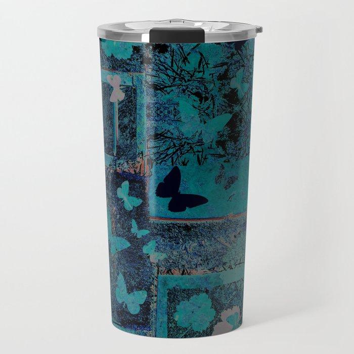 butterflies_I turquoise Travel Mug