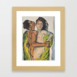 Liebespaar (1913) - Kolo Moser Framed Art Print