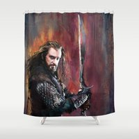 thorin Shower Curtains featuring Thorin by Wisesnail