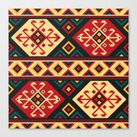 kilim Canvas Prints featuring Colorful Kilim by Pattern Design