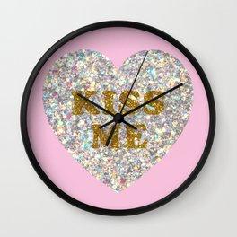 Lucent Heart (Kiss Me) Wall Clock