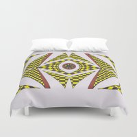easter Duvet Covers featuring Poppy Easter by MissCrocodile63