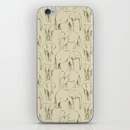 Sketch Book Elephants iPhone Skin
