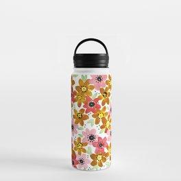 Golden Flowers Water Bottle