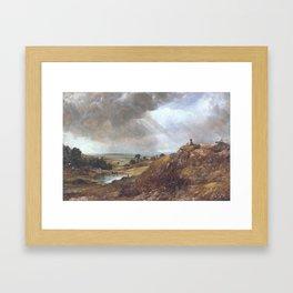 John Constable 1776–1837   Branch Hill Pond, Hampstead Heath, with a Boy Sitting on a Bank Framed Art Print