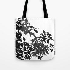 Leaves Silhouette - Black & White Tote Bag