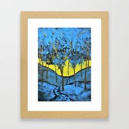 Twilight Woods Framed Art Print