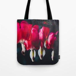 Pink Bleeding Heart Tote Bag