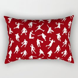 Basketball Players // Maroon Rectangular Pillow