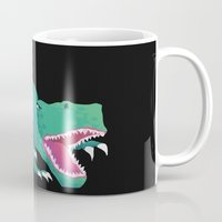 dinosaur Mugs featuring Dinosaur by Flame