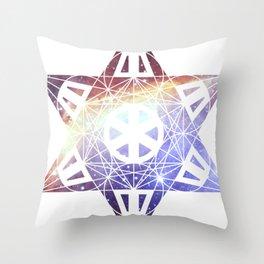 Metatron's Cube Time Wheel ~ Prawn Nebula Throw Pillow