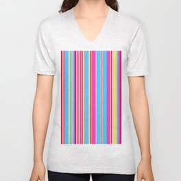 Stripes-015 Unisex V-Neck