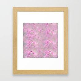 PINK SPRING TIME FLOWER GARDEN Framed Art Print