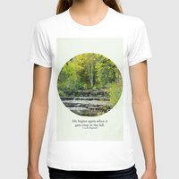fitzgerald T-shirts featuring fall leaves + f scott fitzgerald by lissalaine