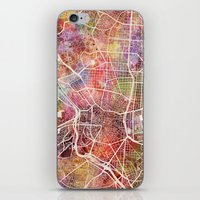 madrid iPhone & iPod Skins featuring Madrid by MapMapMaps.Watercolors
