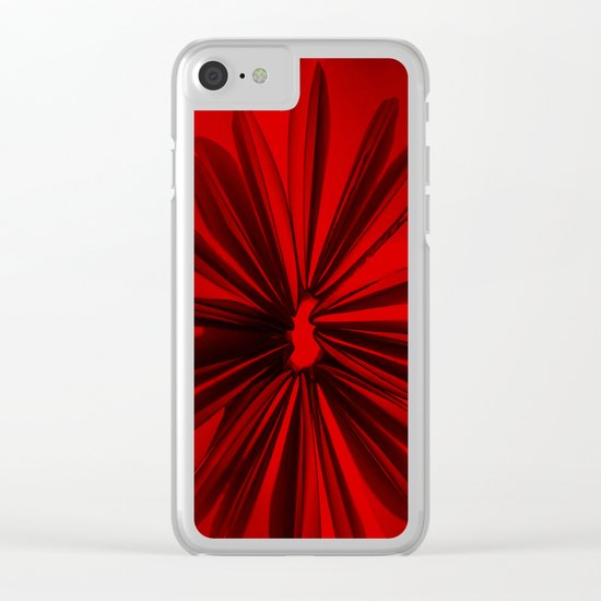 Christmas Red Clear iPhone Case