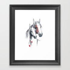 Indian Horses Framed Art Print