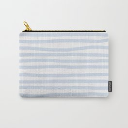 Light Blue Stripes Horizontal Carry-All Pouch