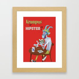 Krampus or Hipster? Framed Art Print