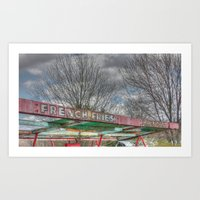 french fries Art Prints featuring French Fries by Canhuck