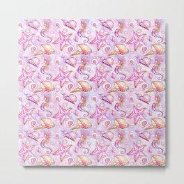 Pink Seahorses #2 Metal Print
