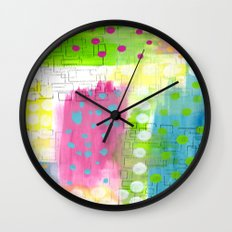 Polk-A-Dotted Background Wall Clock