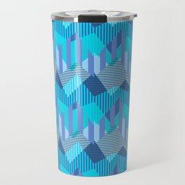 ZigZag All Day - Blue Travel Mug