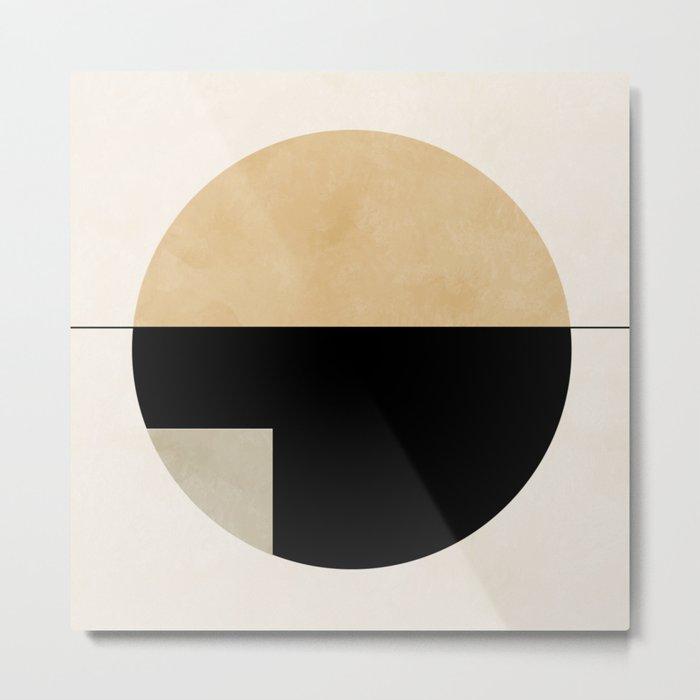 geometric abstract shape Metal Print