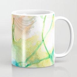 Blue And Yellow Abstract Art - Life Goes On - Sharon Cummings Coffee Mug