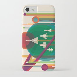Retro Space Poster - The Grand Tour iPhone Case
