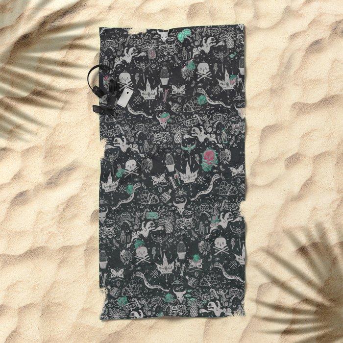 Bones in the Desert Beach Towel