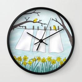 spring clean Wall Clock