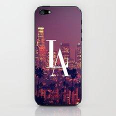 Downtown LA Vintage Skyline Typography iPhone & iPod Skin