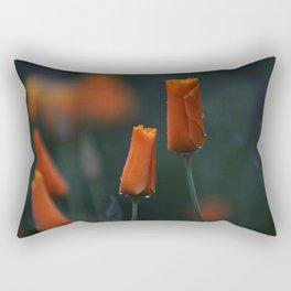 California Poppies at Dusk Rectangular Pillow