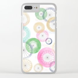 Watercolor Wheels Clear iPhone Case