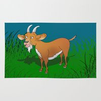 goat Area & Throw Rugs featuring  Goat  by mailboxdisco