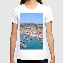 Pastel Houses of Procida Island, Italy T-shirt