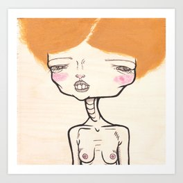 """""""Frizzy Hair and Nervous Charm"""" Art Print"""