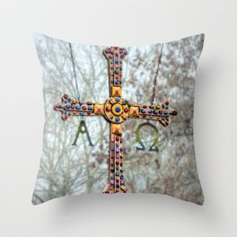 Asturias Christ's cross Throw Pillow