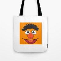 sesame street Tote Bags featuring Sesame Street Bert by Jconner