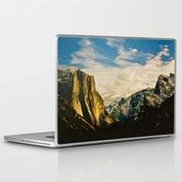 yosemite Laptop & iPad Skins featuring Yosemite Valley  by Biff Rendar