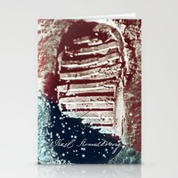 neil gaiman Stationery Cards featuring NEIL ARMSTRONG by OmaPRINTS