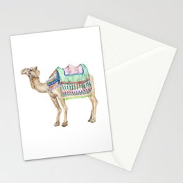 Boho Camel Tassel India Morocco Camel Watercolor Stationery Cards
